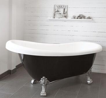 Tassujaloilla seisova, klassisen kaunis kylpyamme
