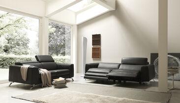 Modernia, näyttävää muotoilua olohuoneen sisustuksessa