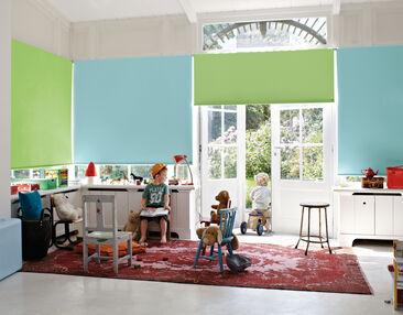 Värikkäät kaihtimet lastenhuoneeseen