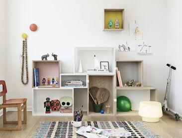 Muunneltavat säilytyskalusteet luovat tyylikkään kokonaisuuden lastenhuoneen sisustukseen