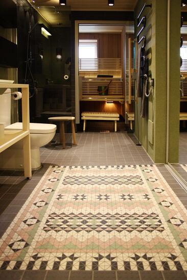 Kylpyhuone kohteessa Viherperhe, Asuntomessut 2014 Jyväskylä