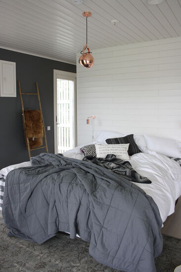Makuuhuone kohteessa Villa Muurame, Asuntomessut 2014 Jyväskylä
