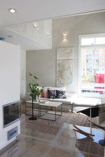 Olohuone kohteessa Lapplin Duo, Asuntomessut 2014 Jyväskylä