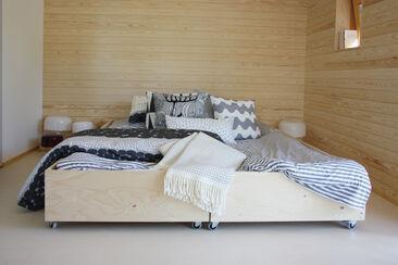 Makuuhuone kohteessa Skammin Talo, Asuntomessut 2014 Jyväskylä