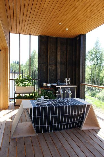 Terassi kohteessa Skammin Talo, Asuntomessut 2014 Jyväskylä
