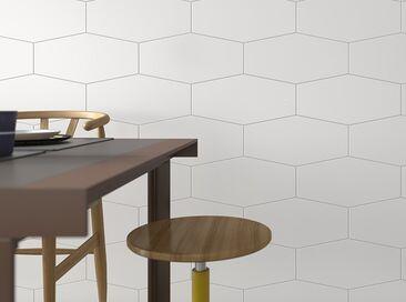 Tyylikkäät seinälaatat keittiössä