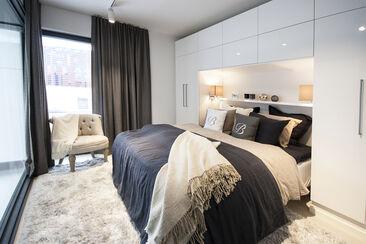 Makuuhuone kohteessa Urban Villa 1, Asuntomessut 2015 Vantaa