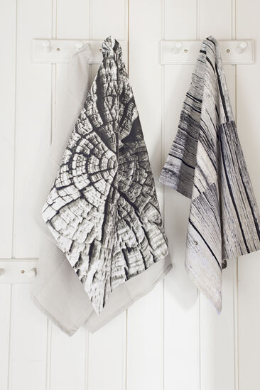 Kaunis puukuvio painettu keittiöpyyhkeisiin