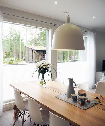 Ruokailutila kohteessa Hartmankoti Ruutu, Asuntomessut 2016 Seinäjoki