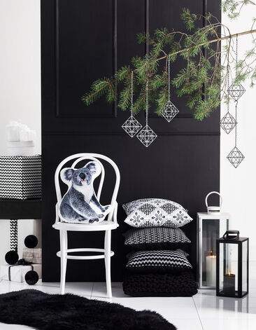 Mustavalkoista joulutunnelmaa
