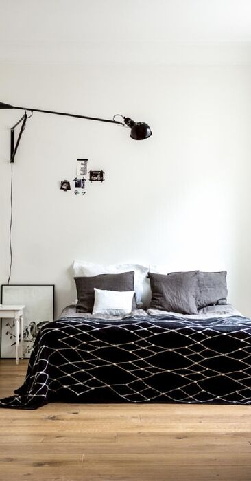 Skandinaavinen makuuhuone