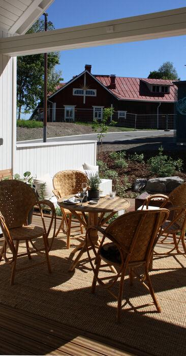 Terassi kohteessa Kannustalo Lato, Asuntomessut 2014 Jyväskylä