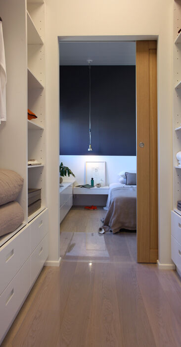Vaatehuone kohteessa Kannustalo Lato, Asuntomessut 2014 Jyväskylä