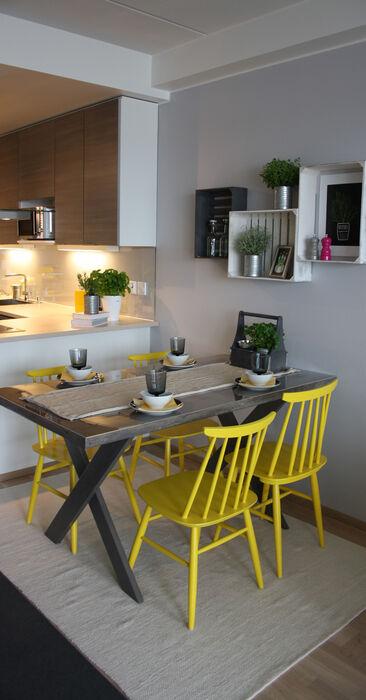 Keittiö kohteessa Brand New Oldies, Asuntomessut 2014 Jyväskylä
