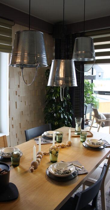 Ruokailutila kohteessa Viherperhe, Asuntomessut 2014 Jyväskylä