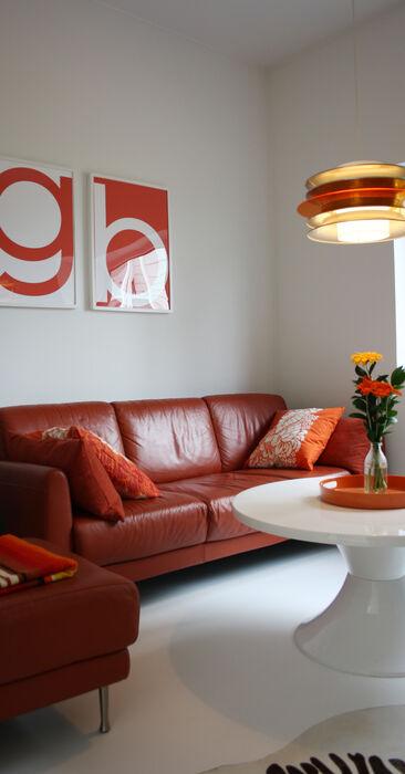 Vierashuone kohteessa Talo Luck, Asuntomessut 2014 Jyväskylä
