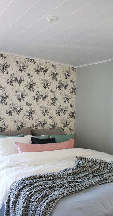 Makuuhuone kohteessa Noppakoti A, Asuntomessut 2014 Jyväskylä