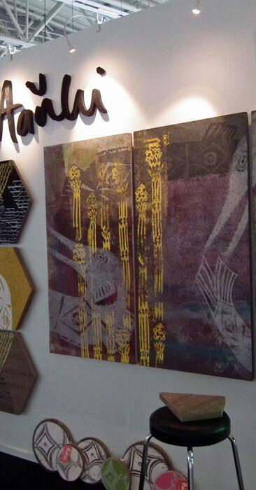 Kuvioidut akustiikkalevyt toimivat taideteoksina, Habitare 2014