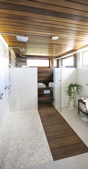 Kylpyhuone kohteessa Terca Tiger, Asuntomessut 2015 Vantaa