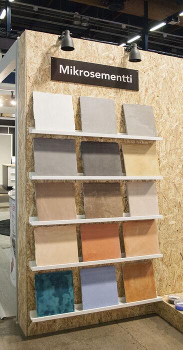 Mikrosementillä helposti betonia muistuttavia pintoja, Habitare 2015