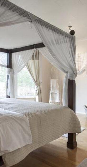 Ihanan romanttinen makuuhuone
