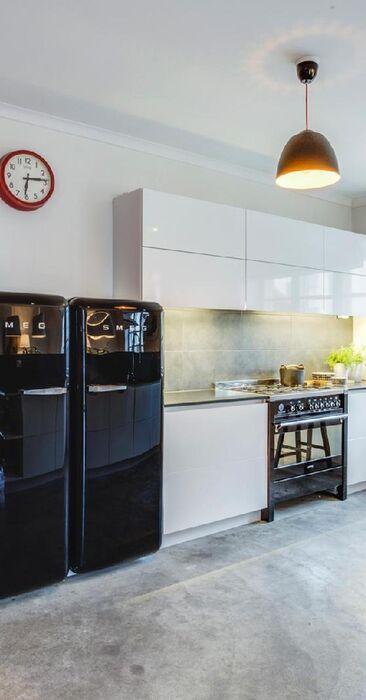 Betonipintoja keittiössä