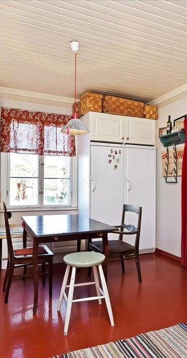 Vanhan talon viihtyisä keittiö