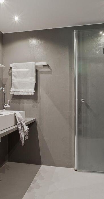 Mikrosementtiä kylpyhuoneessa