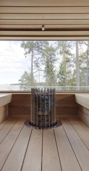 Moderni sauna merinäkymillä