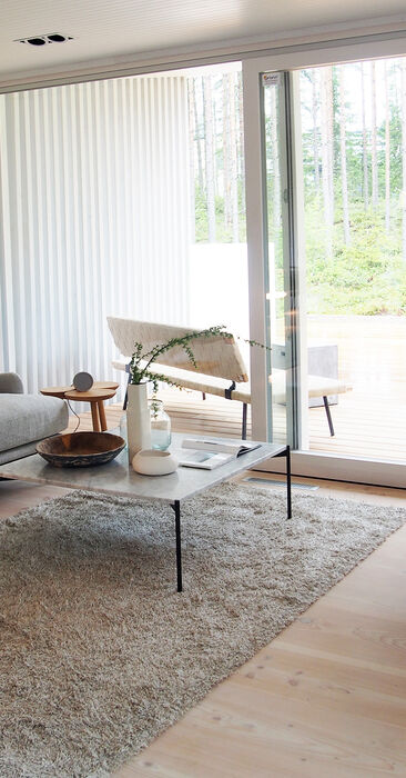 Olohuone kohteessa Talo Koskela, Asuntomessut 2016 Seinäjoki