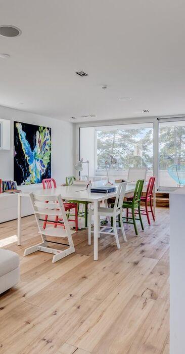Modernin kodin rento oleskelutila