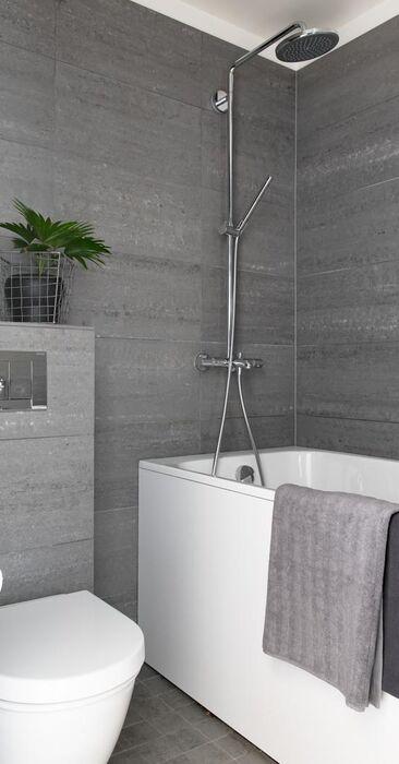Tyylikäs pieni kylpyhuone