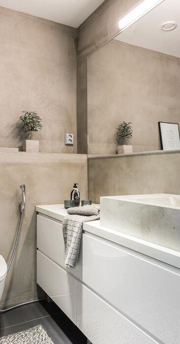Tyylikäs wc betonipinnoilla