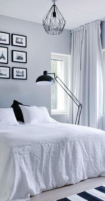 Tyylikkäät valaisimet makuuhuoneessa