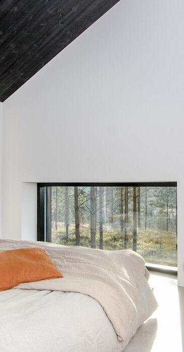 Kauniit maisemat makuuhuoneen ikkunoista