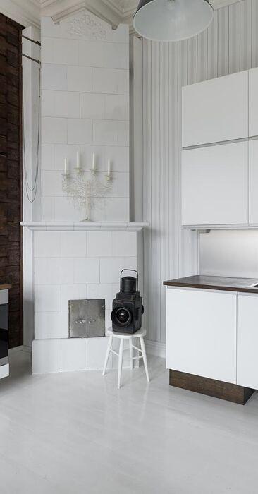 Uutta ja vanhaa kauniissa keittiössä