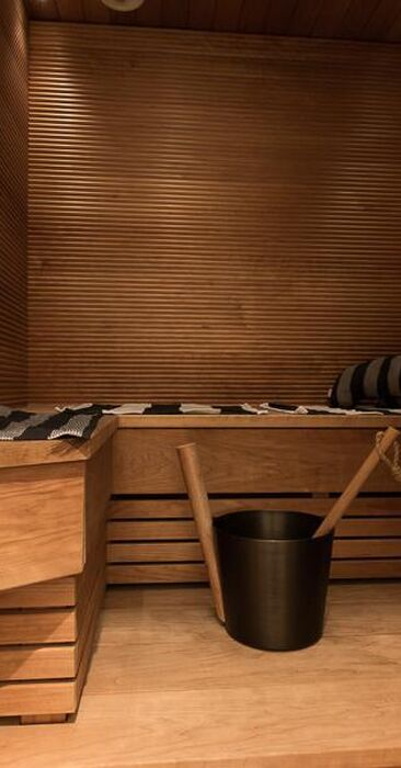 Pieni moderni sauna