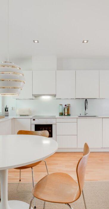 Raikas ja moderni ilme keittiössä