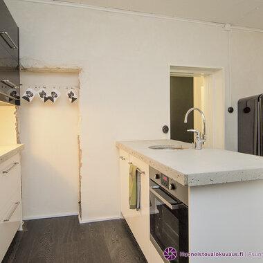 Sisustusbetoni keittiössä: tee-se-itse betonitaso