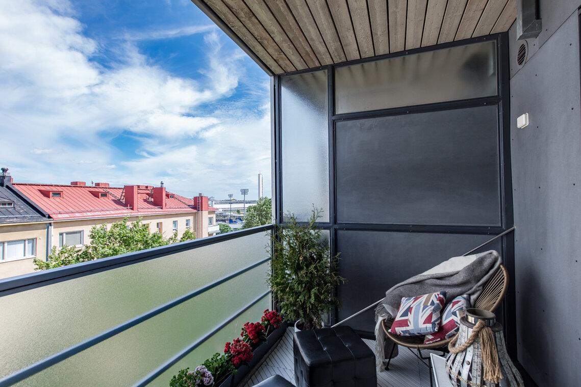 Loft-asunnon suojaisa parveke - Etuovi.com Ideat & vinkit