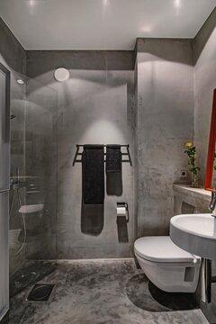 Mikrosementti kylpyhuone