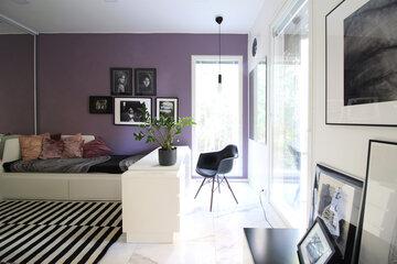 Upea Samanta sängynrunko 160x200 cm musta/valkoinen keinonahka
